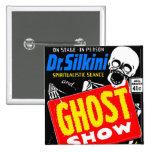 Retro Vintage Kitsch Halloween Ghost Show Pinback Button