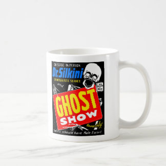 Retro Vintage Kitsch Halloween Ghost Show Classic White Coffee Mug