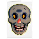 Retro Vintage Kitsch Halloween Happy Skull Greeting Cards