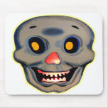 Retro Vintage Kitsch Halloween Happy Skull Mouse Pad