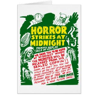 Retro Vintage Kitsch Halloween Horror Show Greeting Card