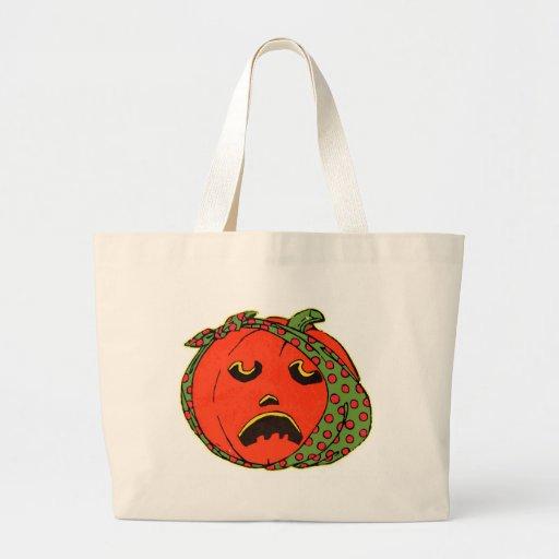 Retro Vintage Kitsch Halloween Pumpkin Toothache Tote Bag