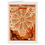 Retro Vintage Kitsch Halloween Wheel of Fortunes Greeting Card
