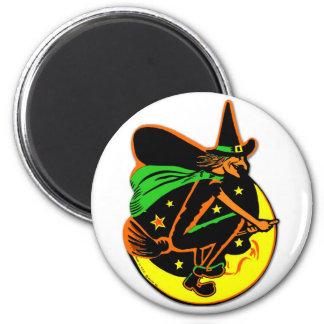 Retro Vintage Kitsch Halloween Wicked Witch 2 Inch Round Magnet
