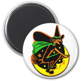 Retro Vintage Kitsch Halloween Wicked Witch Magnets