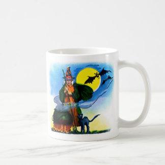 Retro Vintage Kitsch Halloween Witches Brew Mugs