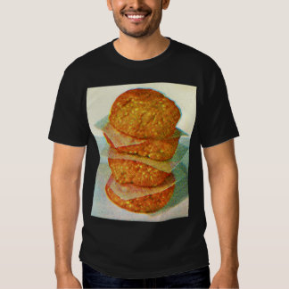 Retro Vintage Kitsch Hamburger Patties Burgers T Shirt