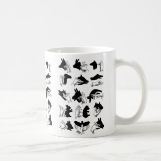 Retro Vintage Kitsch Hand Shadow Puppets Coffee Mug