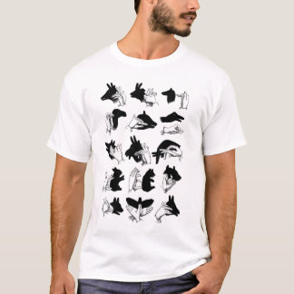 Retro Vintage Kitsch Hand Shadow Puppets T-Shirt