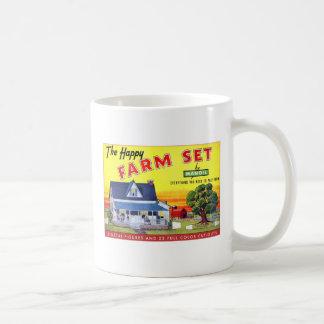 Retro Vintage Kitsch Happy Farm Manoil Toy Metal Coffee Mug