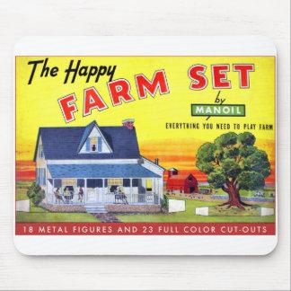 Retro Vintage Kitsch Happy Farm Manoil Toy Metal Mouse Pad