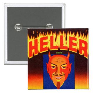 Retro Vintage Kitsch Heller Devil Vegetables Label Pinback Button