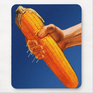 Retro Vintage Kitsch High Fructose Corn Syrup Cob Mouse Pad