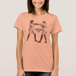 Retro Vintage Kitsch Hipster Boxing Girl Tsh T-Shirt