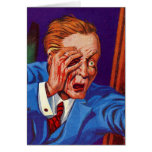 Retro Vintage Kitsch Horror My Eye! My Eye! Greeting Cards