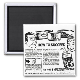Retro Vintage Kitsch How To Succeed Back Page Ad Magnet