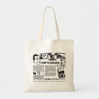 Retro Vintage Kitsch How To Succeed Back Page Ad Tote Bag