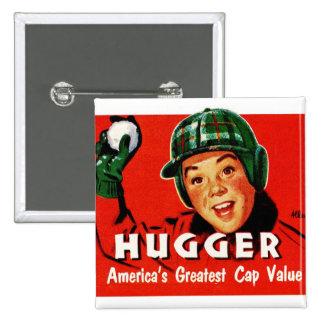 Retro Vintage Kitsch Hugger Americas Greatest Cap Button