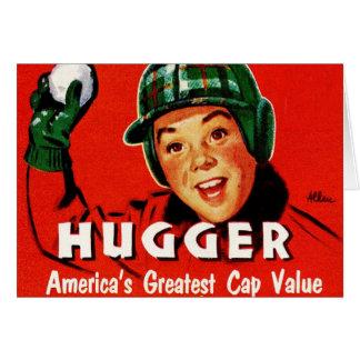 Retro Vintage Kitsch Hugger Americas Greatest Cap Card