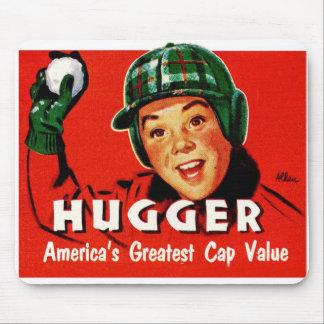 Retro Vintage Kitsch Hugger Americas Greatest Cap Mouse Pad