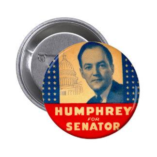 Retro Vintage Kitsch Humphrey For Senate Button