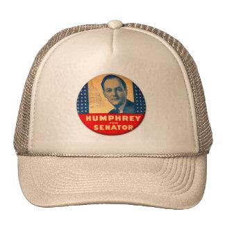 Retro Vintage Kitsch Humphrey For Senate Button Trucker Hat