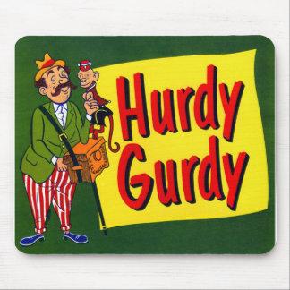 Retro Vintage Kitsch Hurdy Gurdy Monkey Art Mouse Pad