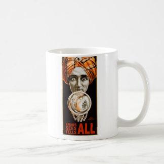 Retro Vintage Kitsch Hypnotist Alexander Seer Coffee Mug