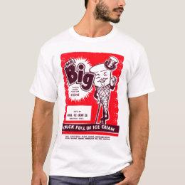 Retro Vintage Kitsch Ice Cream Novelty Mr. Big T-Shirt
