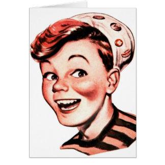 Retro Vintage Kitsch Iconic Gee Whiz Kid Boy Card