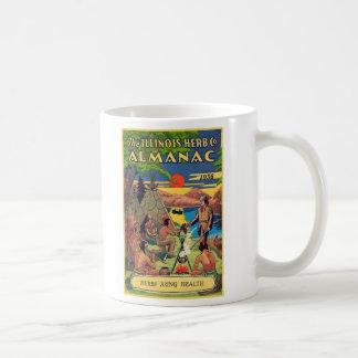 Retro Vintage Kitsch Illinois Herb Company Almanac Coffee Mug