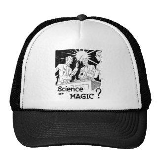Retro Vintage Kitsch Illusion Science or Magic? Trucker Hat