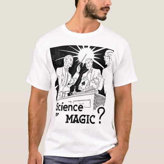 Retro Vintage Kitsch Illusion Science or Magic? T-Shirt