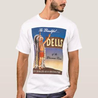 Retro Vintage Kitsch Indian Chief Wisconsin Dells T-Shirt