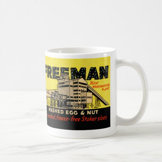 Retro Vintage Kitsch Industrial Freeman Egg & Nut Coffee Mug