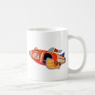 Retro Vintage Kitsch Japan Tin Toy Rocket Ship Coffee Mugs