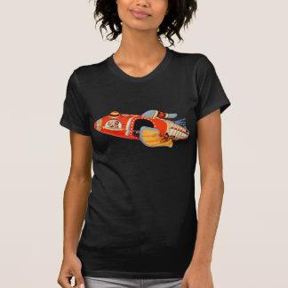 Retro Vintage Kitsch Japan Tin Toy Rocket Ship T-Shirt