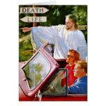 Retro Vintage Kitsch Jesus Points The Way Card