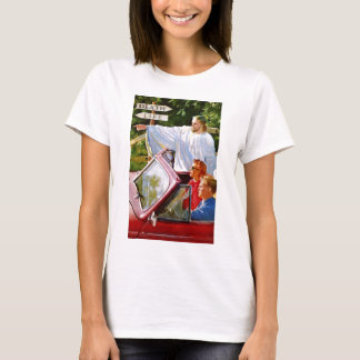 Retro Vintage Kitsch Jesus Points The Way T-Shirt