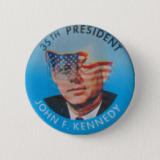 Retro Vintage Kitsch John Kennedy Flasher Button