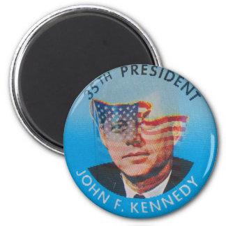 Retro Vintage Kitsch John Kennedy Flasher Button 2 Inch Round Magnet