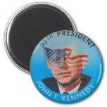 Retro Vintage Kitsch John Kennedy Flasher Button Magnet