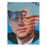 Retro Vintage Kitsch John Kennedy Flasher Button Postcard