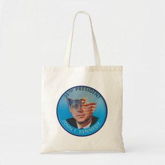 Retro Vintage Kitsch John Kennedy Flasher Button Tote Bag