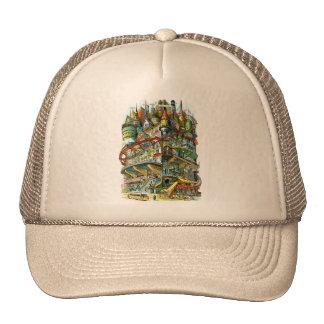 Retro Vintage Kitsch Judge Cover Future Apartments Trucker Hat