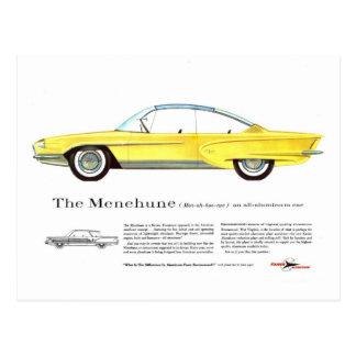 Retro Vintage Kitsch Kaiser Menehune Concept Car Postcard