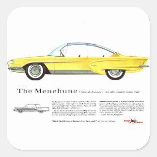 Retro Vintage Kitsch Kaiser Menehune Concept Car Square Sticker