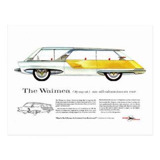 Retro Vintage Kitsch Kaiser Waimea Concept Car Postcard