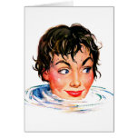 Retro Vintage Kitsch Keep Your Head Above Water Greeting Cards