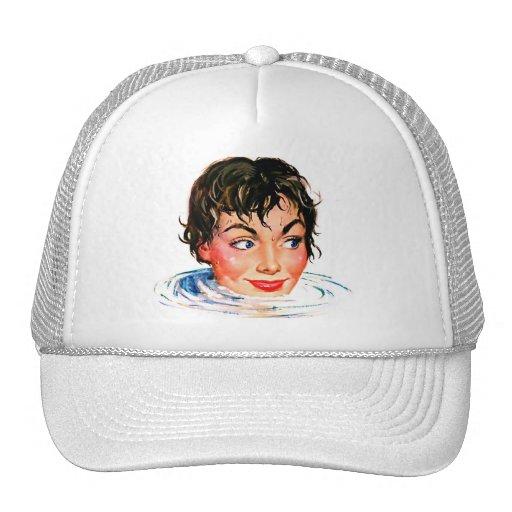 Retro Vintage Kitsch Keep Your Head Above Water Trucker Hat